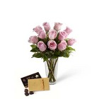 The FTD Pink Rose & Godiva Bouquet from Backstage Florist in Richardson, Texas